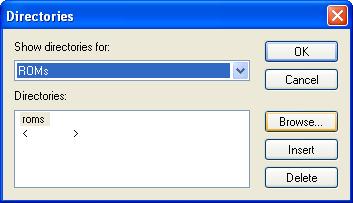 Pilihan untuk direktory rom