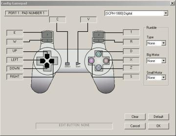 Tampilan virtual joystik