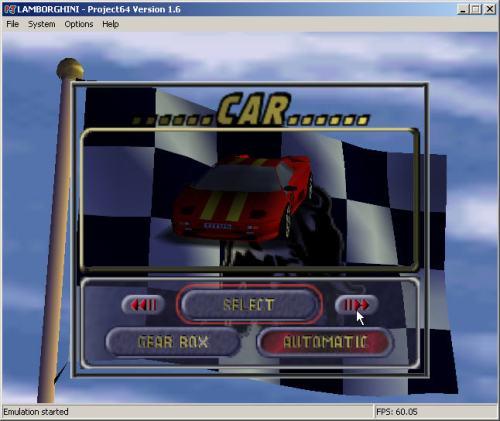 Game Automobille Lamborghini di Project64
